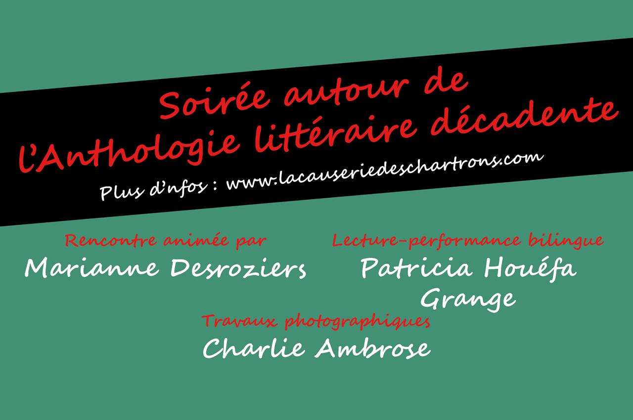 Bandeau de la soirée Anthologie Littéraire Décadente