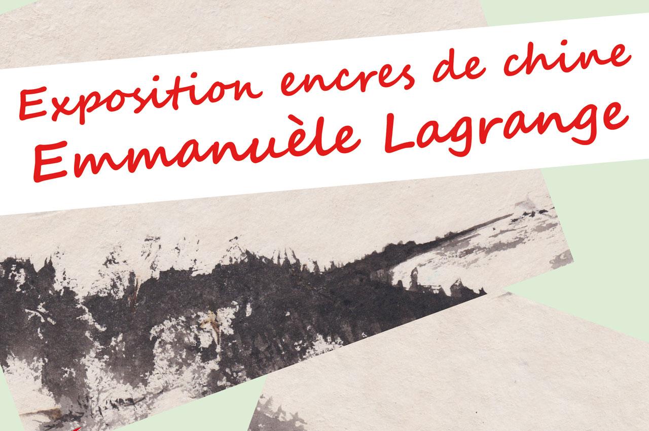 Bandeau de l'exposition d'Emmanuèle Lagrange